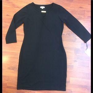 NWT Calvin Klein Black Knit Dress, Sz L, Org $134
